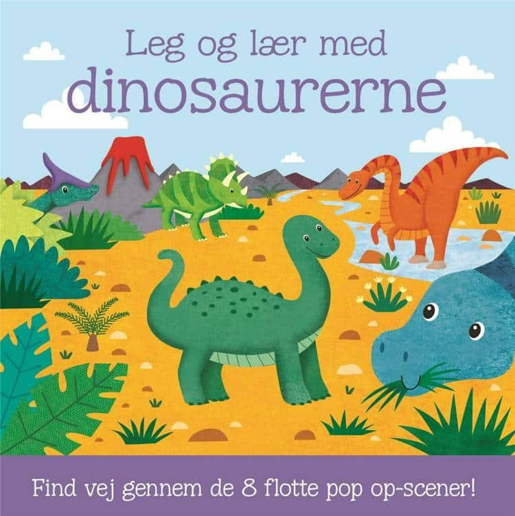 Leg og lær med dinosaurerne, bog til tumling, leg og lær, dinosaurer