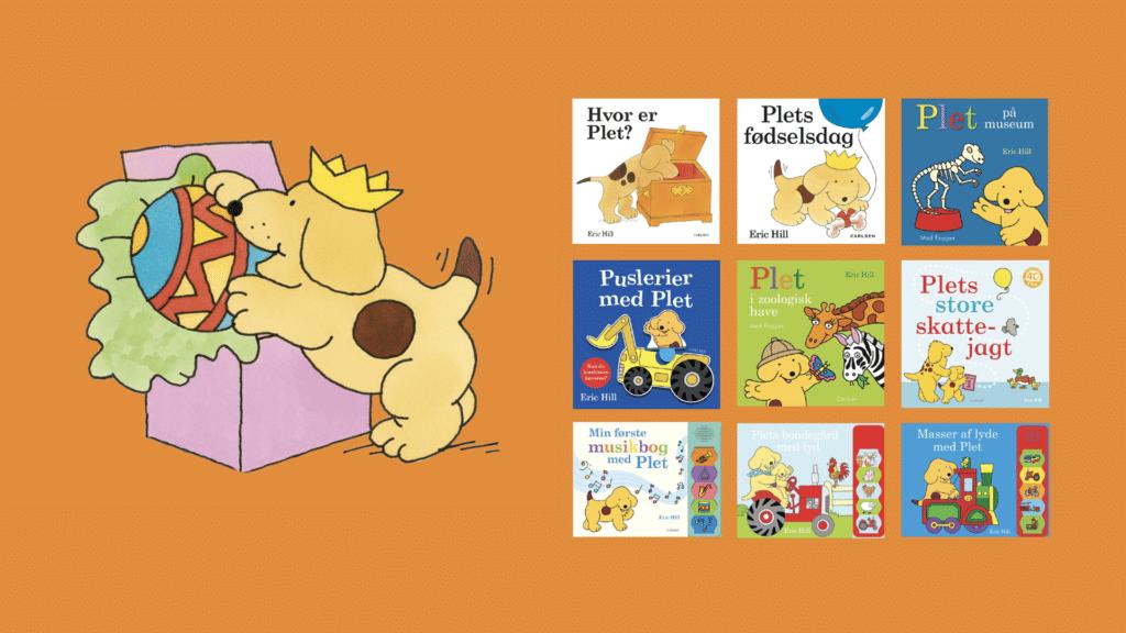 Plet, bøger med Plet, jubilæum, Eric Hill, børnebøger