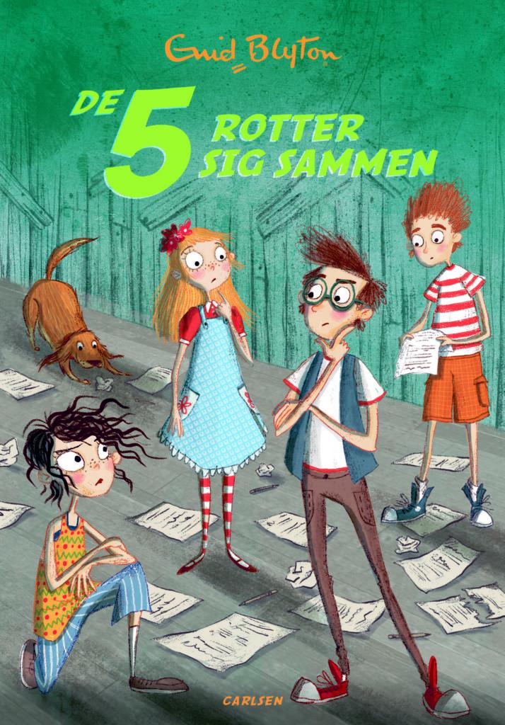De 5 rotter sig sammen, Enid Blyton