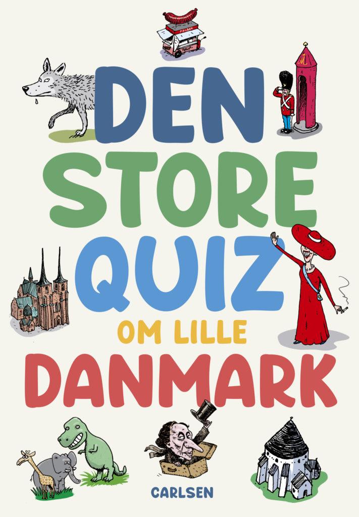 Den store quiz om lille Danmark, børnebøger for hele familien, quizbog, Carlsen