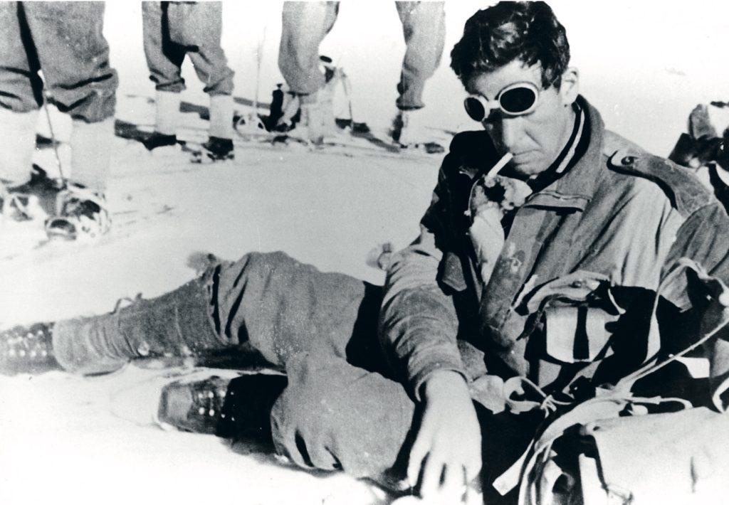 Dette foto af Jens Paul Jensen er formentlig taget i Alperne i 1944, da han gjorde tjeneste i den britiske hær.