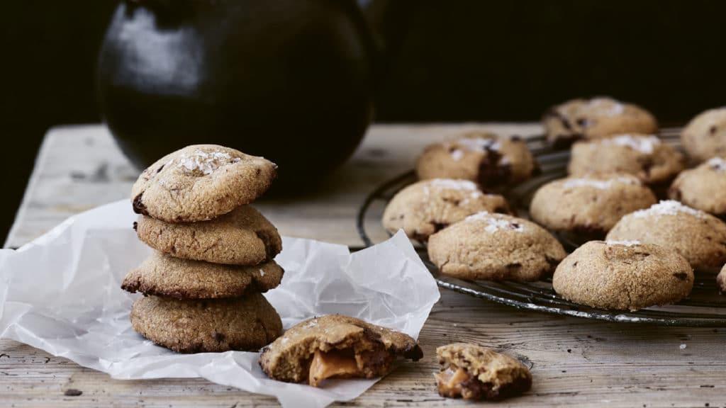 karamlecookies med brunet smør