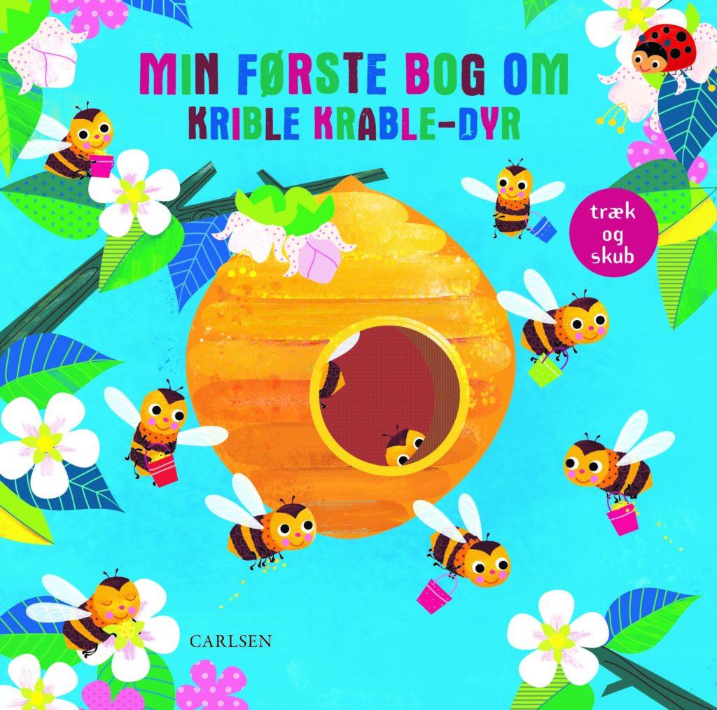 Min første bog om krible krable-dyr, krible krable, pegebog, papbog,