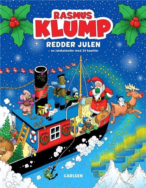 Rasmus Klump, Rasmus klump redder julen, julekalender, julebog, julekalenderbog, julekalenderbøger,