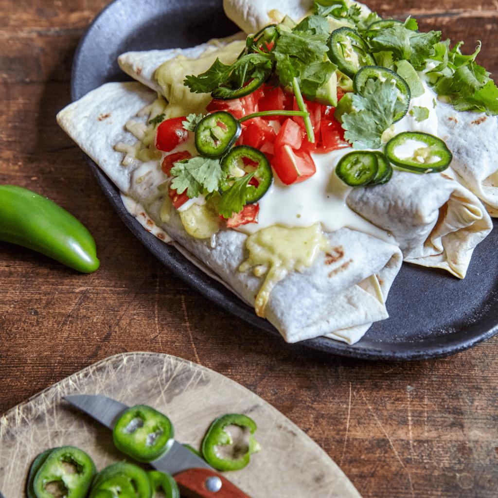 Beasty bean burritos, Louisa Lorang, grøn mad på 30 minutter