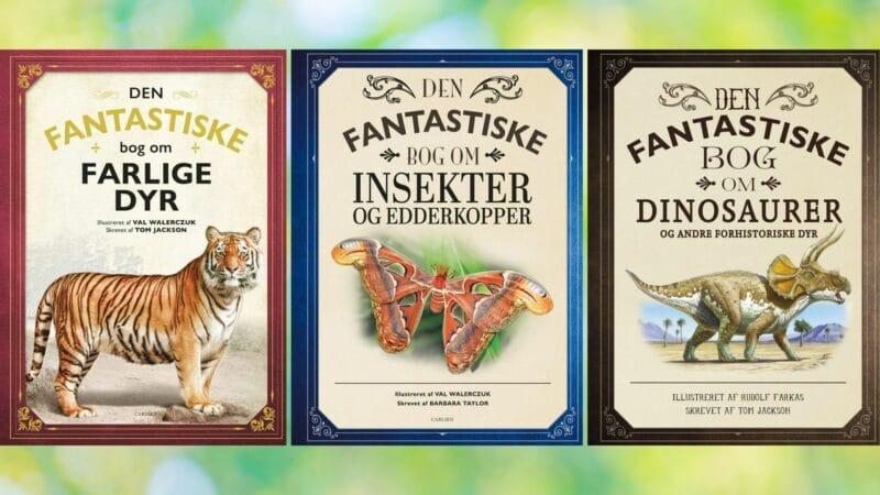 Den fantastiske bog om farlige dyr, den fantastiske bog, den fantastiske bog om insekter og edderkopper