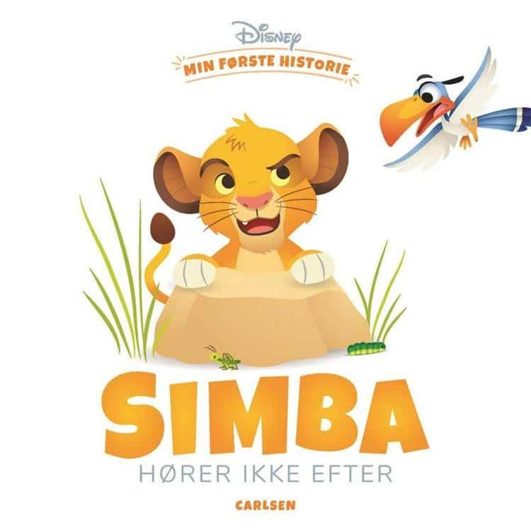 min første historie, simba, løvernes konge, bøger for de små, bøger for de mindste, bøger til baby, højtlæsning