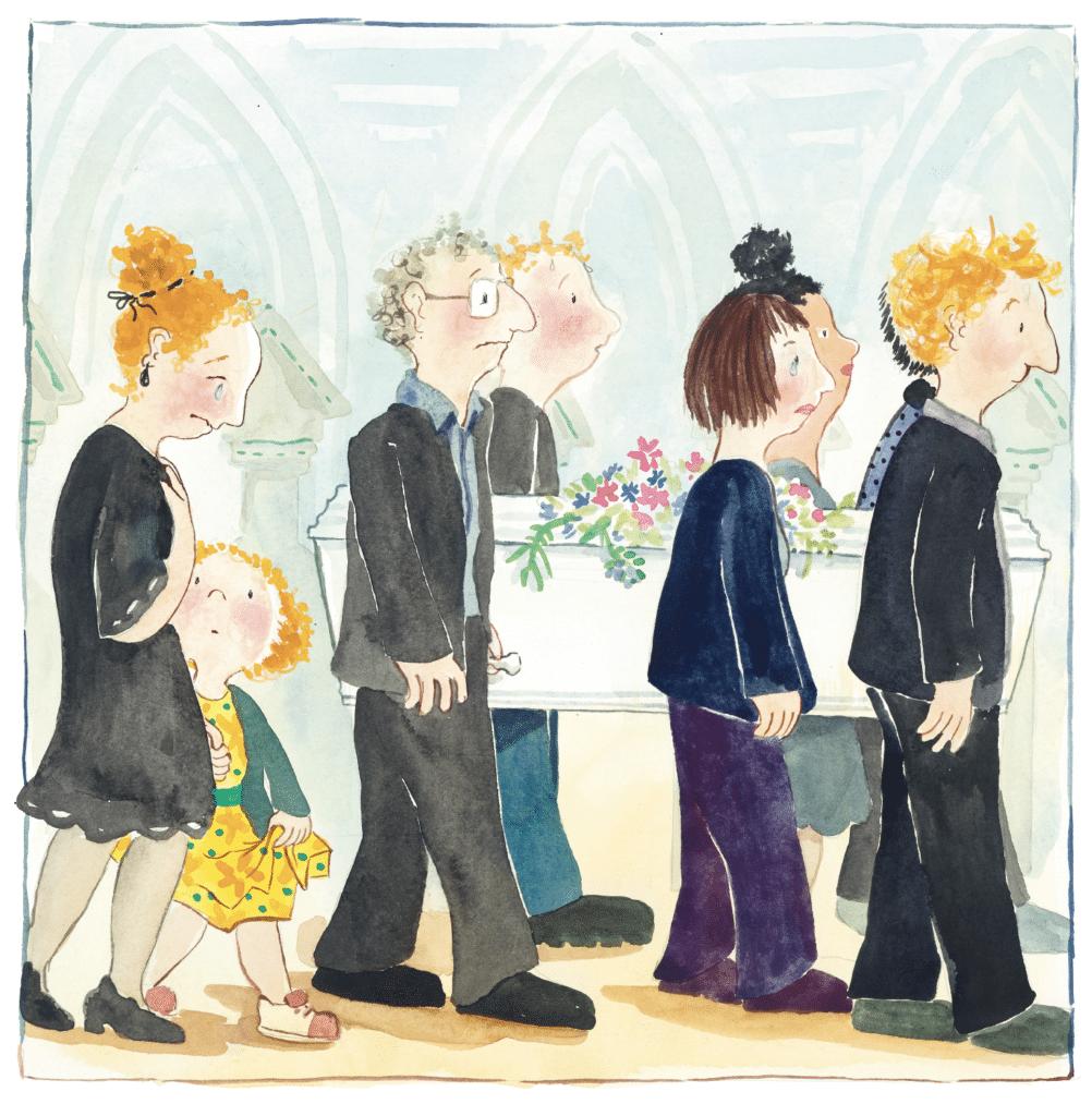 Farvel, Olde, Ina Victoria Haller, børnebog om døden, begravelse