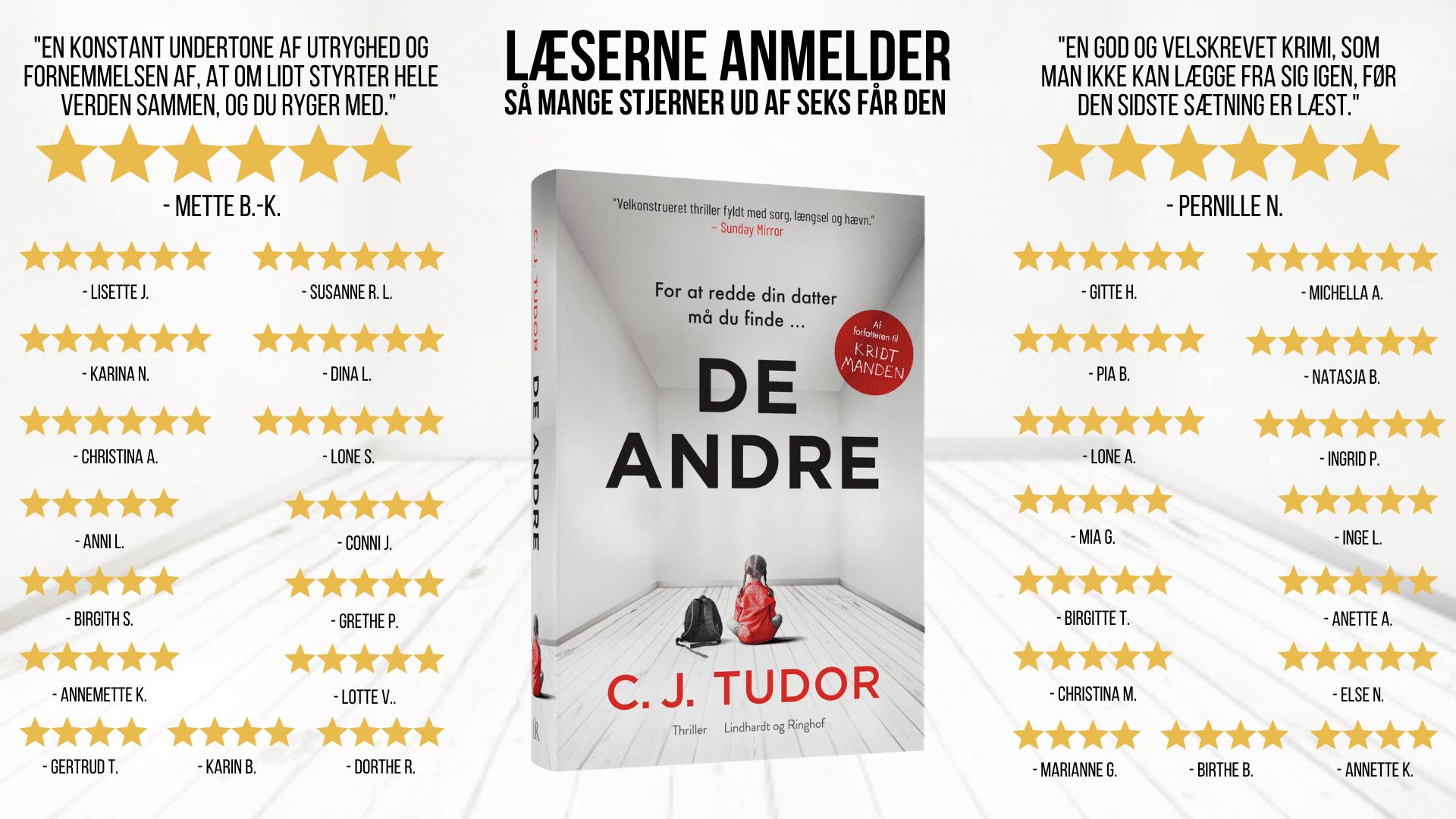 De andre, C. J. Tudor, krimi, thriller, page-turner,