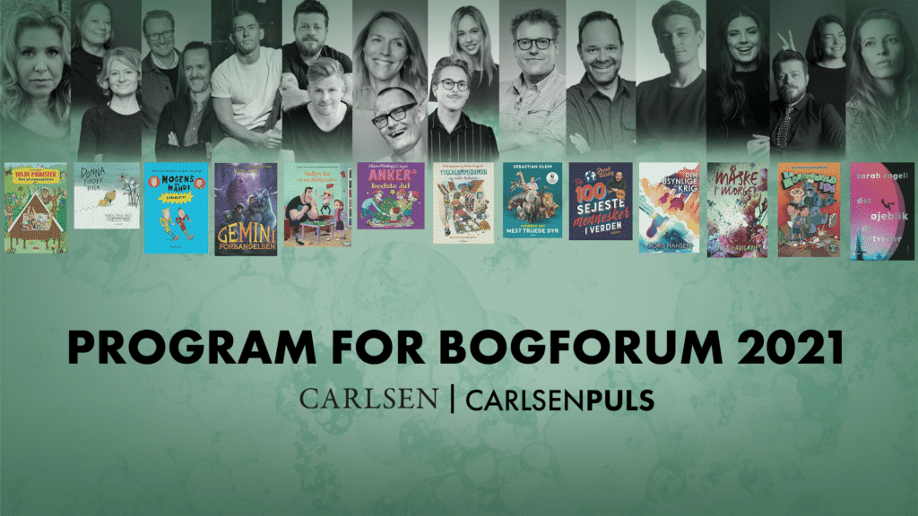 carlsen, forlaget carlsen, bogforum 2021, børnebogforum, bornebogforum
